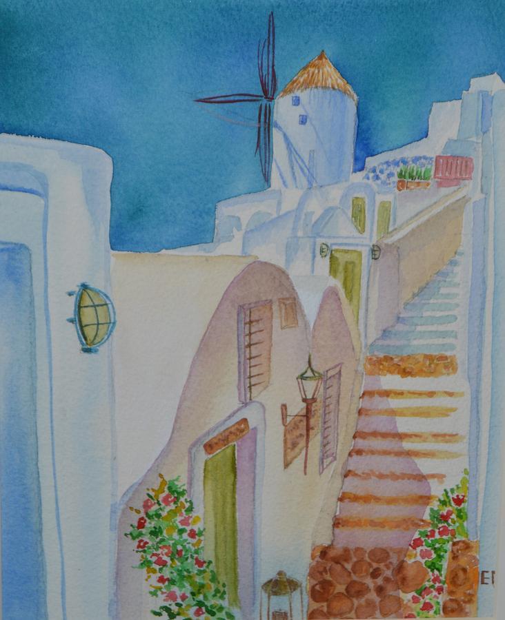 Painting - Greece by Elena Mahoney