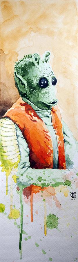 Star Wars Painting - Greedo by David Kraig
