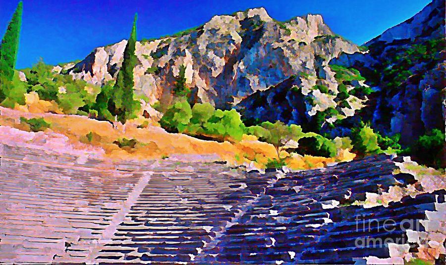 Greek Amphitheatre Painting - Greek Amphitheatre by John Malone
