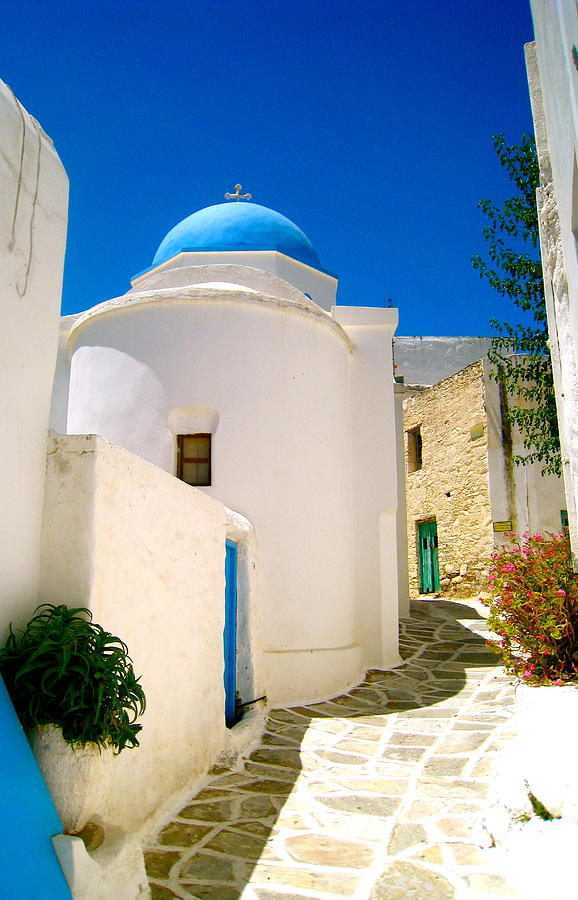 Greece Photograph - Greek Blue  by Emma  Heidemann