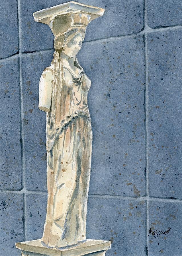 Caryatid Painting - Greek Caryatid by Marsha Elliott