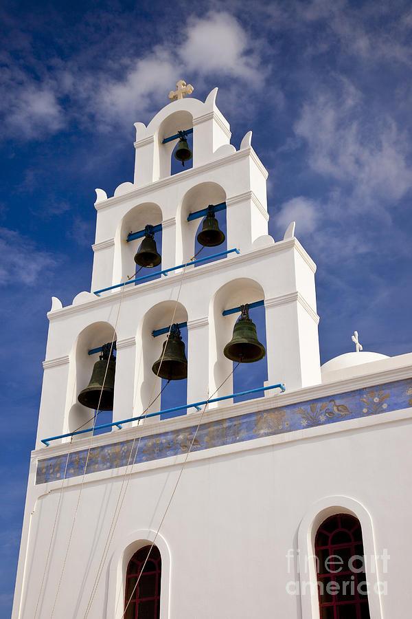 Greek Orthodox Photograph - Greek Church Bells by Brian Jannsen