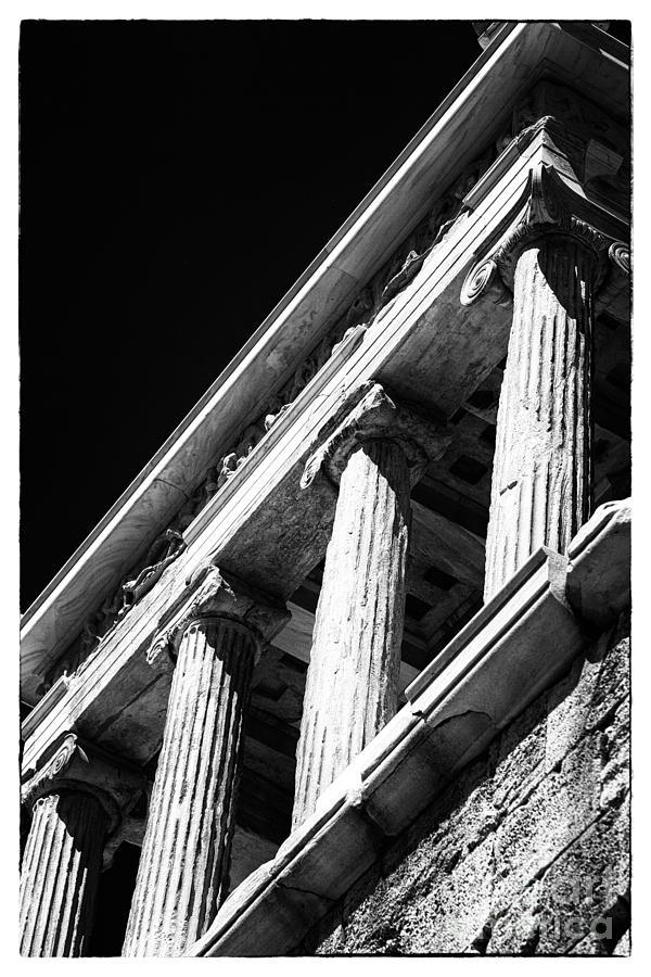 Greek Columns Photograph - Greek Columns by John Rizzuto
