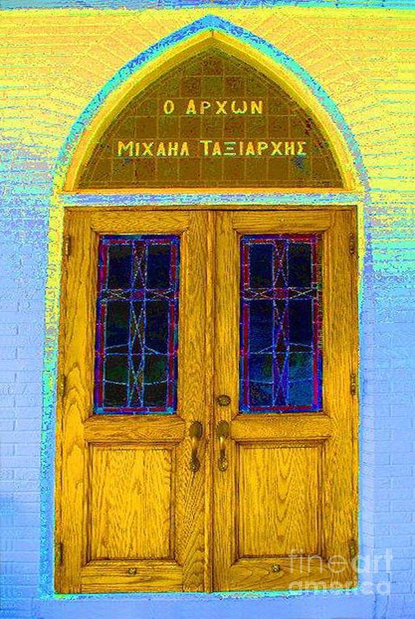 Greek Photograph - Greek Doors by Jost Houk