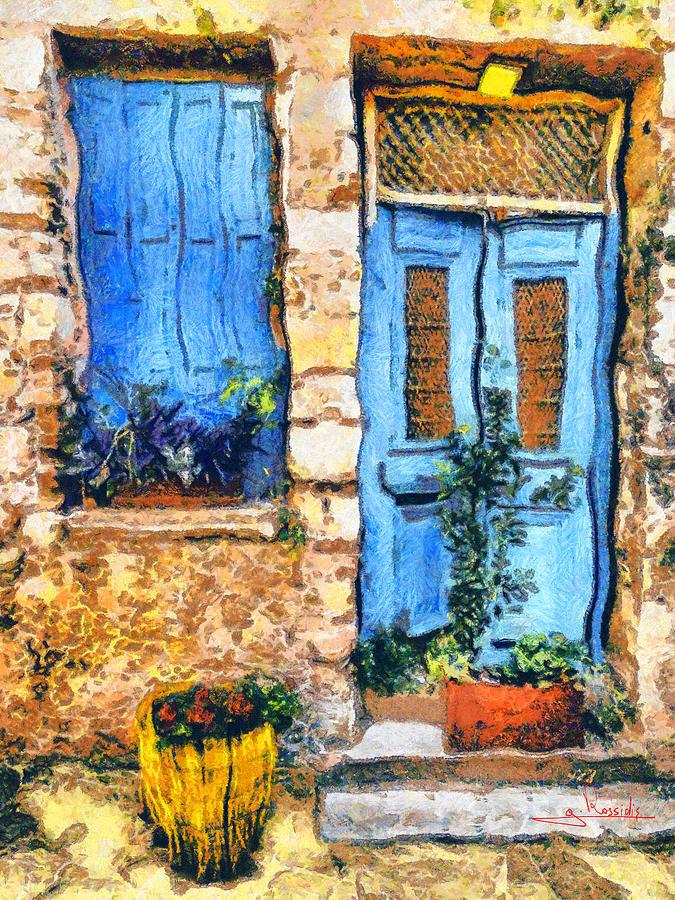 Greek House Painting - Greek House 66 by George Rossidis