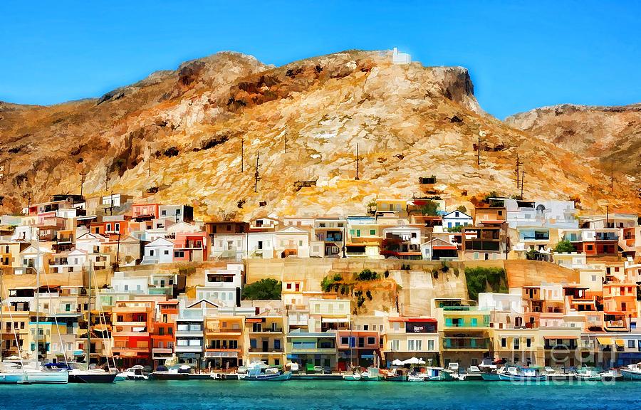 Greek Island - Kalymnos Digital Art