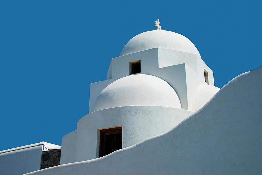 Greek Orthdox Church In Mykonos Photograph by Ed Freeman