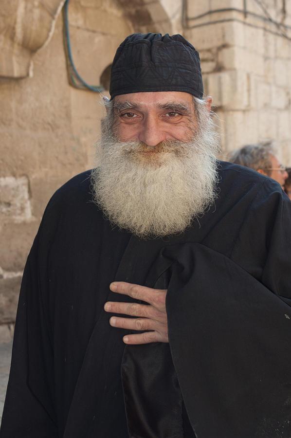Greek Orthodox Priest Jerusalem Photograph By Mel Noodelman