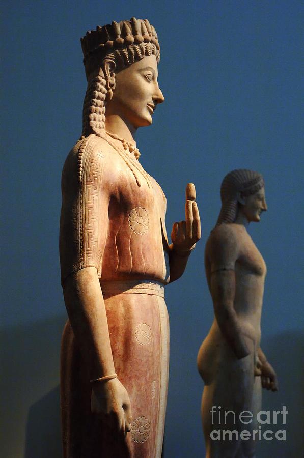 Athens Photograph - Greek Sculpture Athens 1 by Bob Christopher