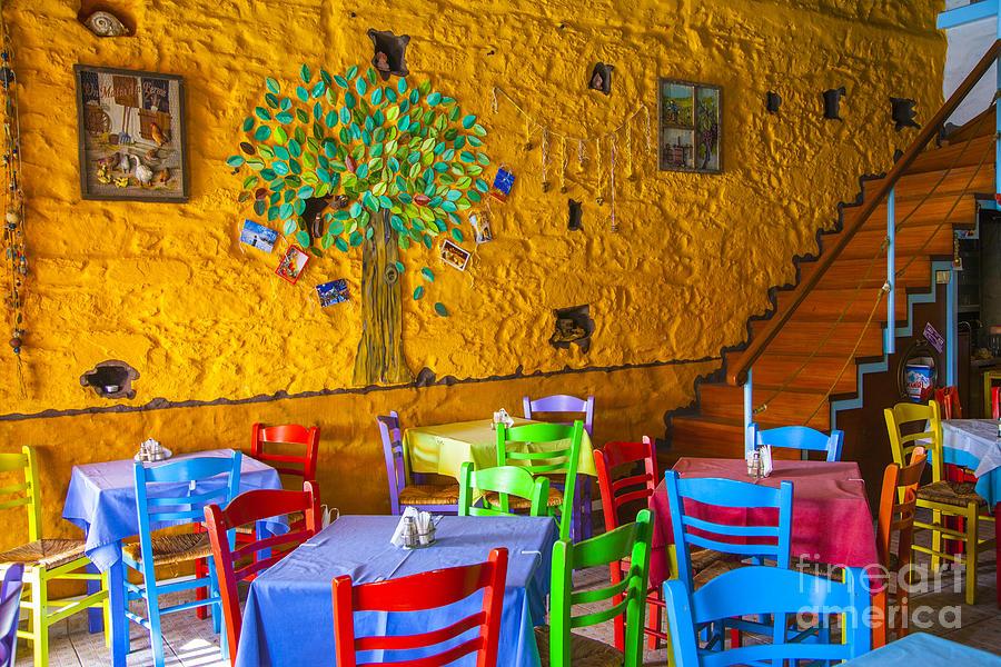 Greek Photograph - Greek Taverna by Eleni Mac Synodinos