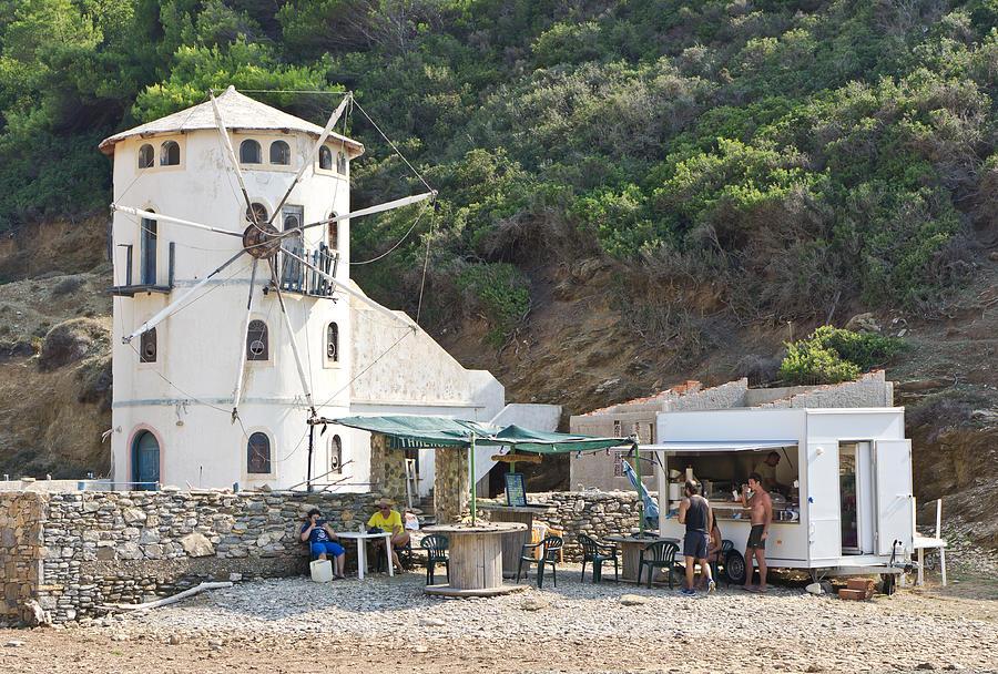 Alonissos Photograph - Greek Windmill by Tom Gowanlock