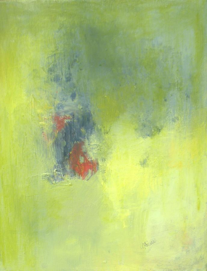 Acrylic Painting - Green Abstract by Andrea Friedell