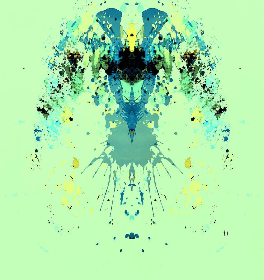 Alien Digital Art - Green Alien by Dan Sproul