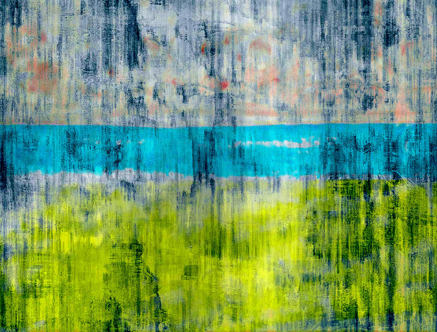 Color Digital Art - Green and blue by Joseph Ferguson