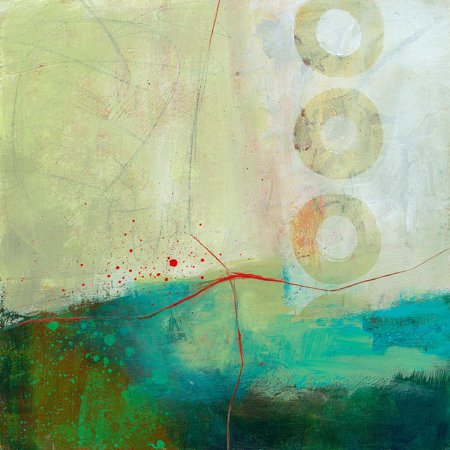 Acrylic Painting - Green And Red 2 by Jane Davies