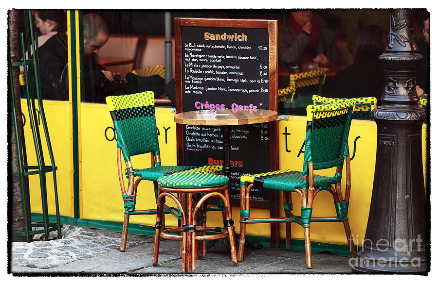 Green And Yellow In Paris Photograph - Green And Yellow In Paris by John Rizzuto
