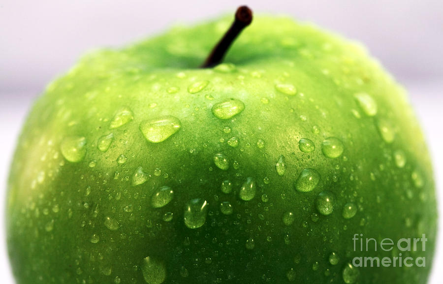 Green Apple Photograph - Green Apple Top by John Rizzuto