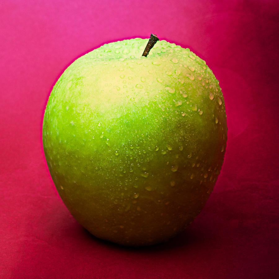 Apple Photograph - Green Apple Whole 1 by Alexander Senin