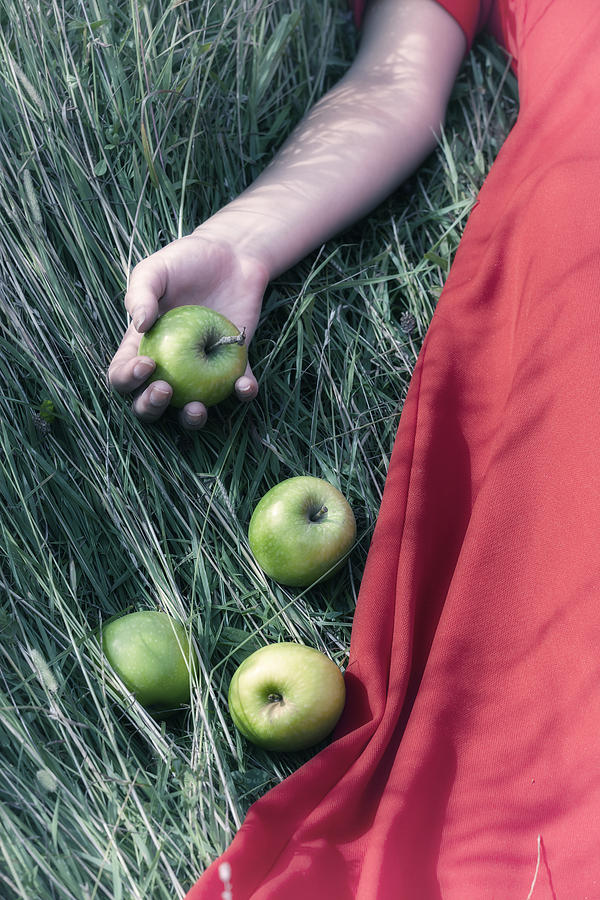 Woman Photograph - Green Apples by Joana Kruse