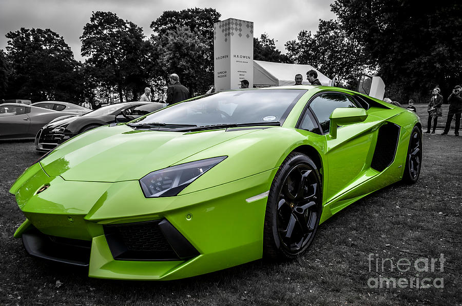 Green Aventador Photograph By Matt Malloy