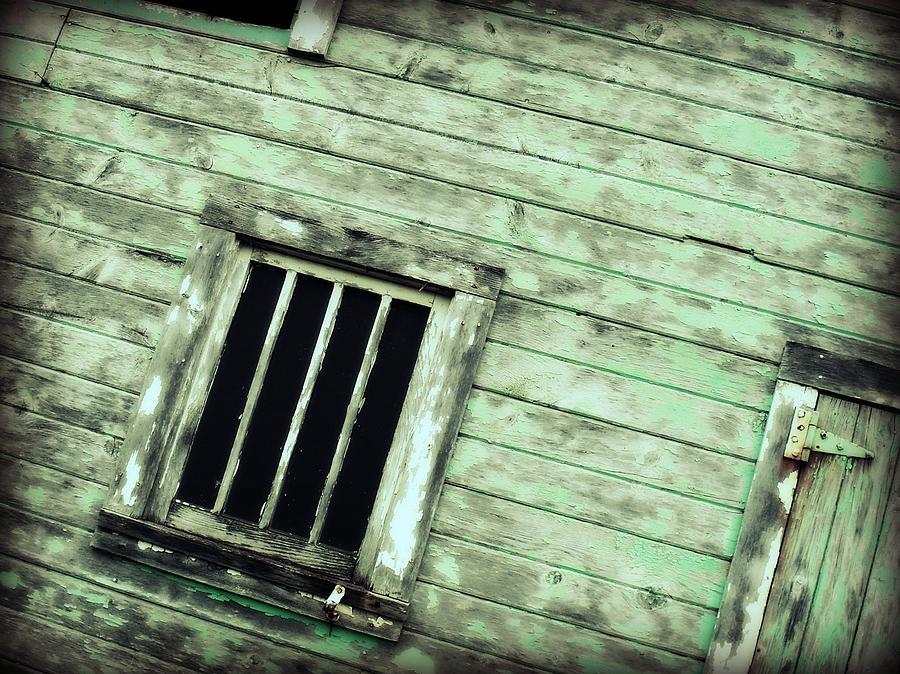 Farm Photograph - Green Barn Up Close by Julie Hamilton