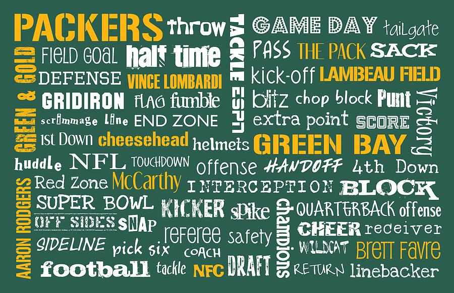 Green Bay Digital Art - Green Bay Packers by Jaime Friedman