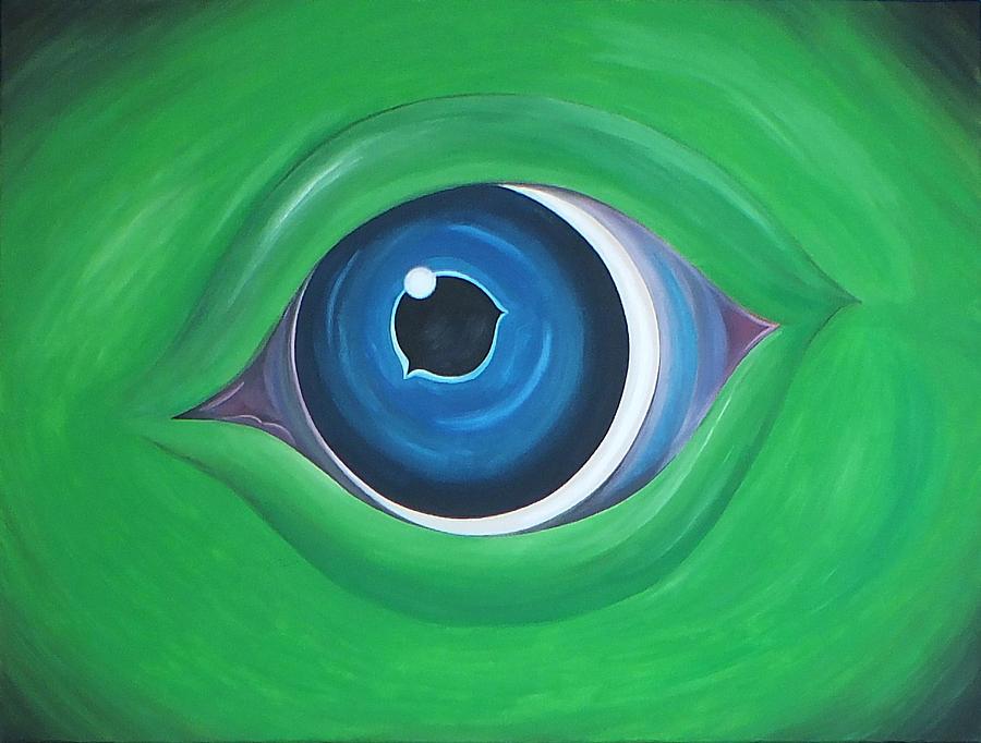 Monster Painting - Green Beast by Sven Fischer