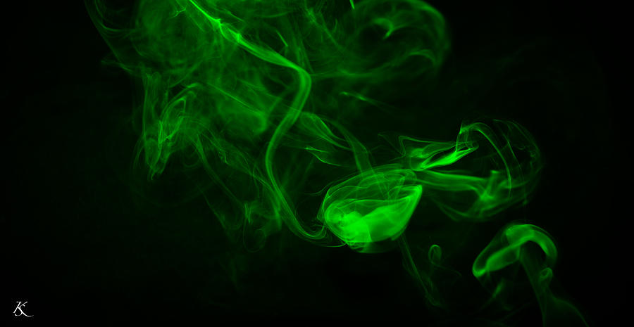 Green Black Smoke Photograph By Kelly Smith