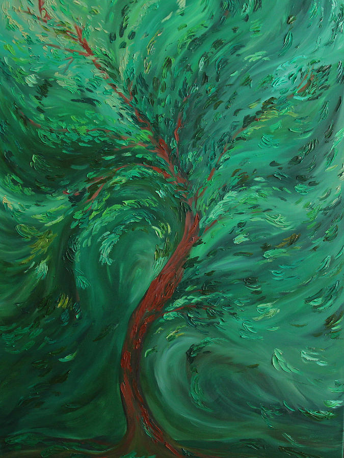 Tree Painting - Green Bliss by Felix Concepcion