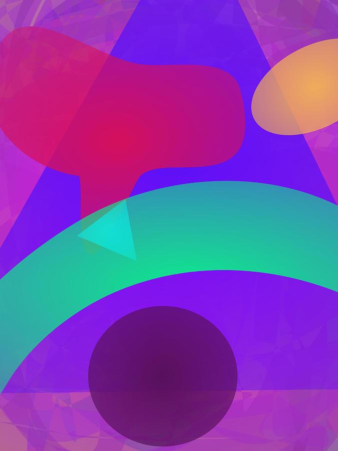 Gradation Digital Art - Green Bow by Masaaki Kimura