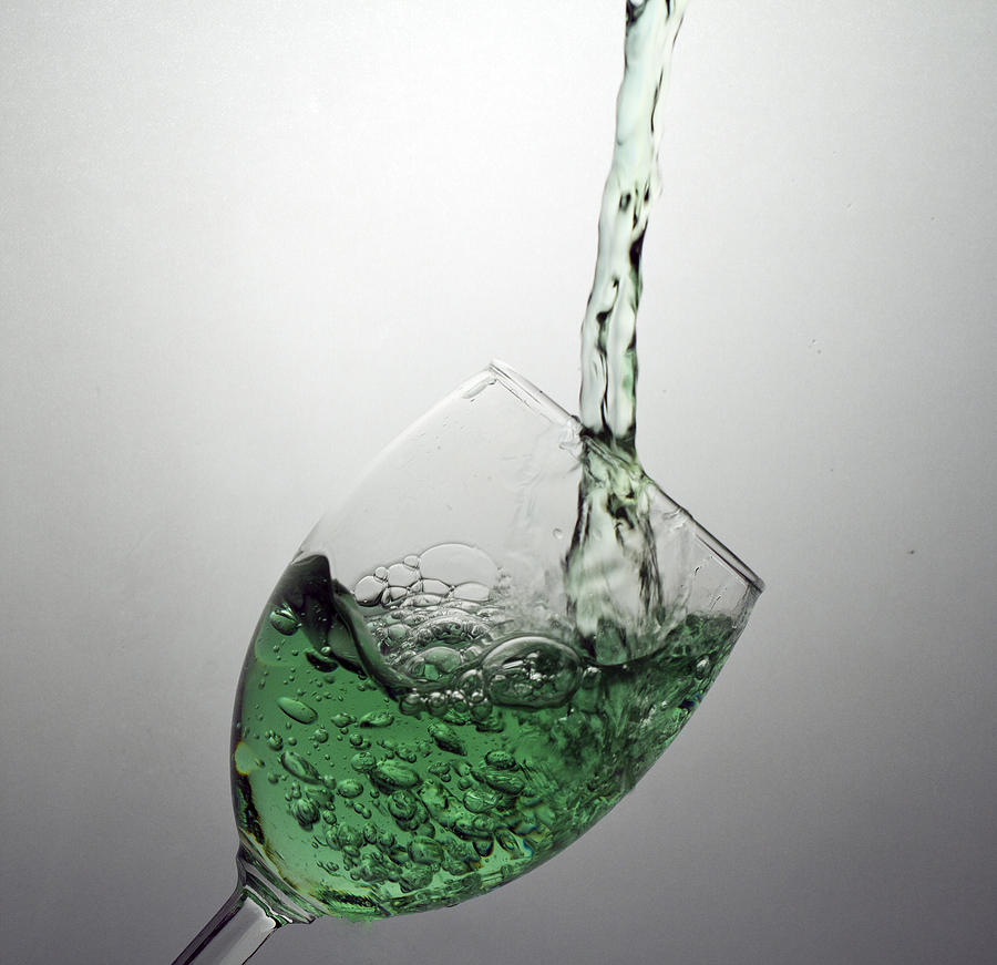 Splash Digital Art - Green Bubbly by John Hoey