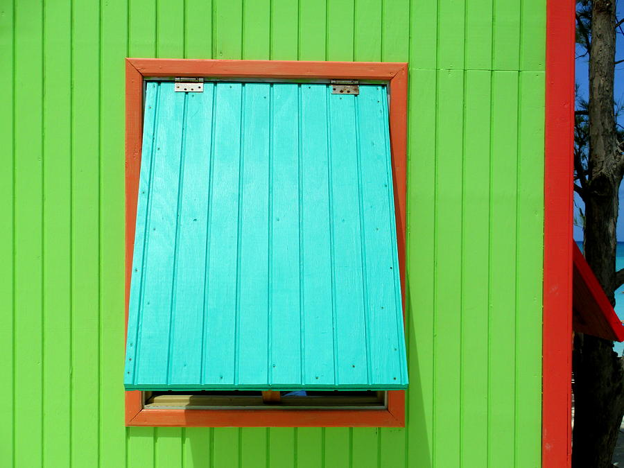 Caribbean Corner Photograph - Green Cabin by Randall Weidner
