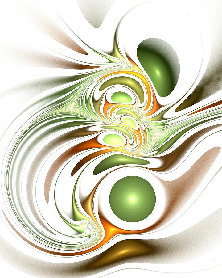 Interior Digital Art - Green Creation by Anastasiya Malakhova
