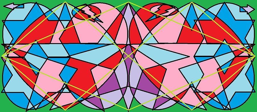 Diamond Digital Art - Green Diamond by Rachael McIntosh