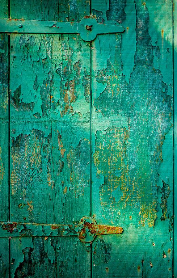 Wabi Sabi Photograph - Green Door - Carmel By The Sea by David Smith