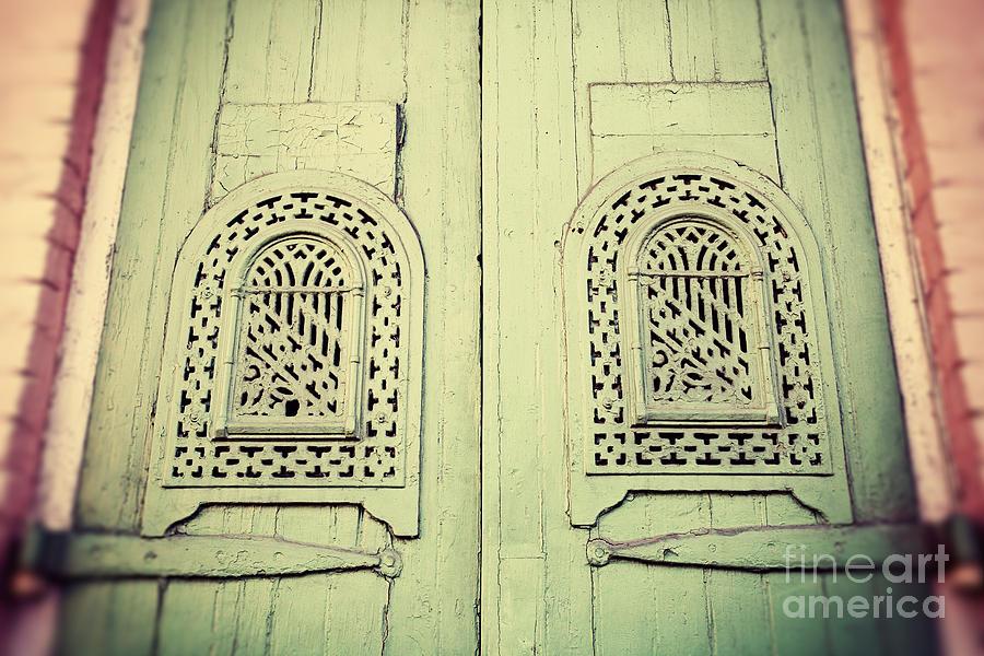 Green Door In New Orleans Photograph