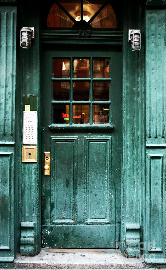 New York City Photograph - Green Door In The Village by John Rizzuto