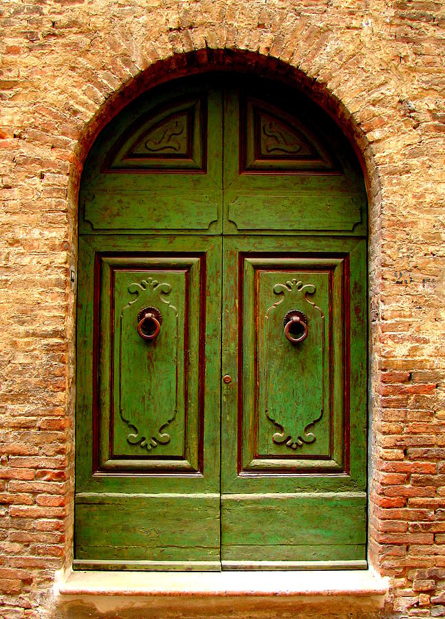Doors Photograph - Green Door by Ramona Johnston