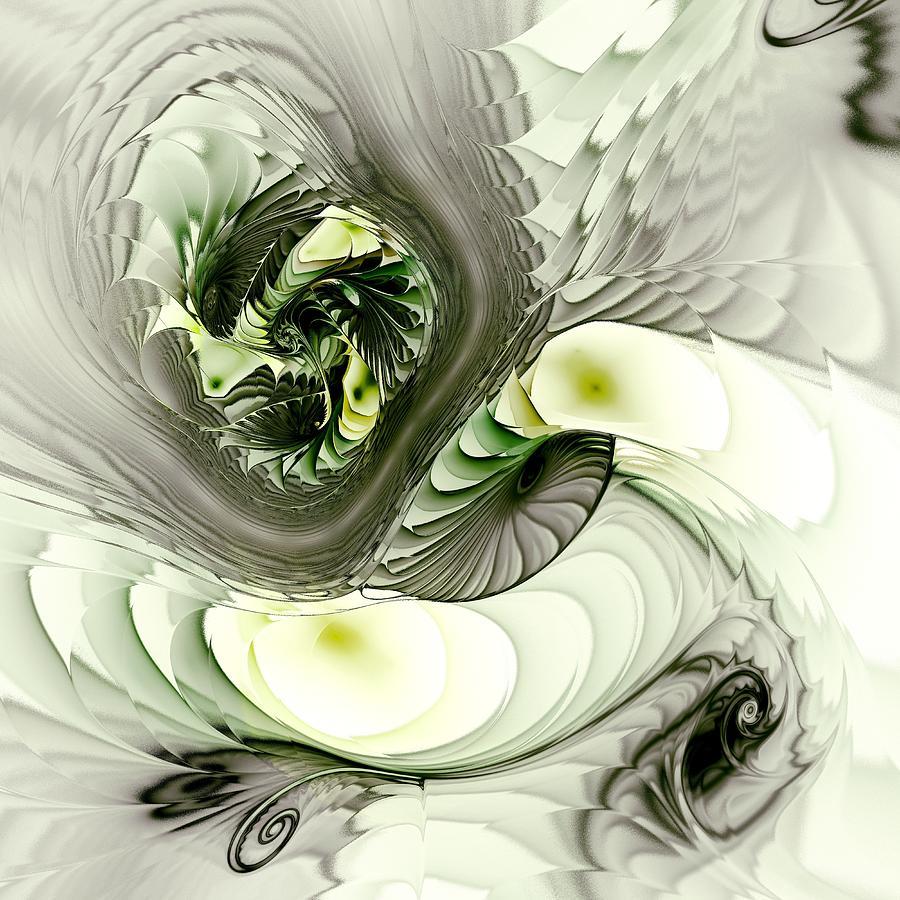 Interior Digital Art - Green Dragon by Anastasiya Malakhova