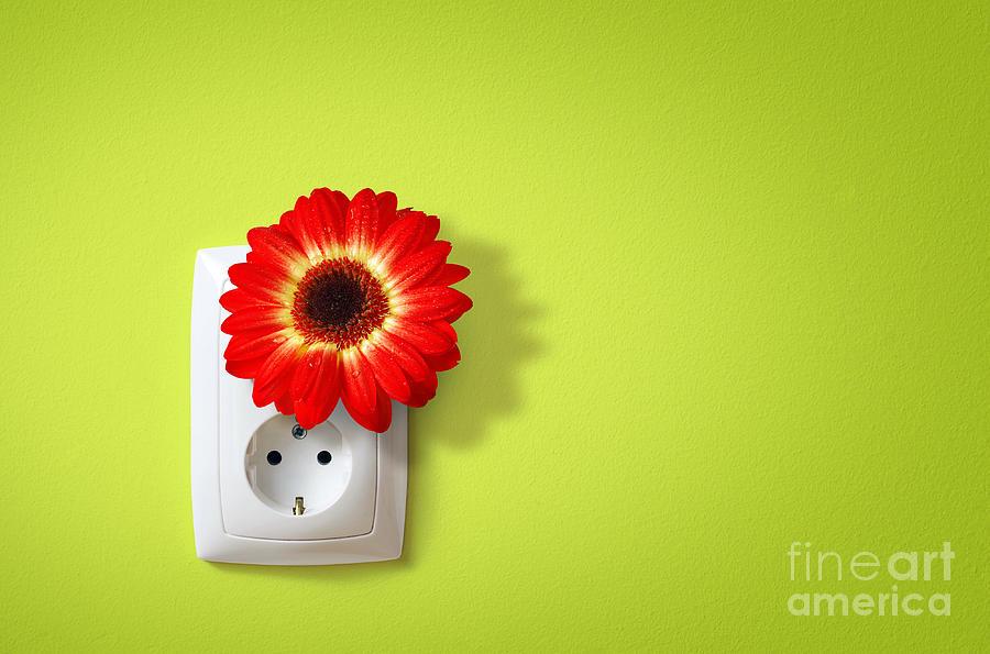 Alternative Photograph - Green Electricity by Carlos Caetano