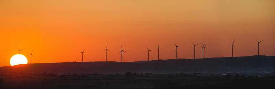 Air Photograph - Green Energy by Stelios Kleanthous