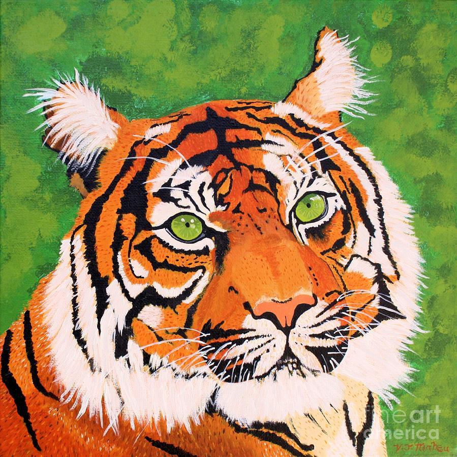 Green-Eyed Tiger by Vicki Maheu