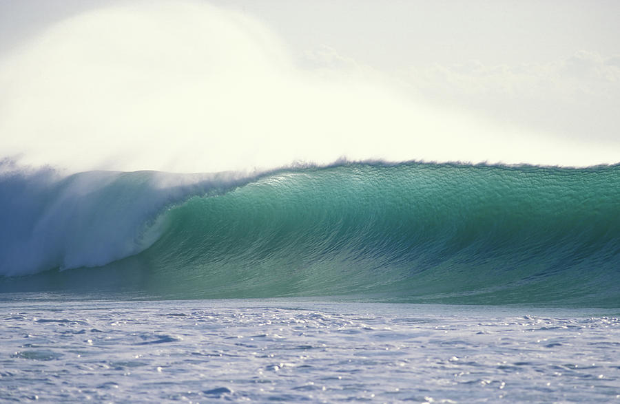 Sea Swell Photograph - Green Feather by Sean Davey
