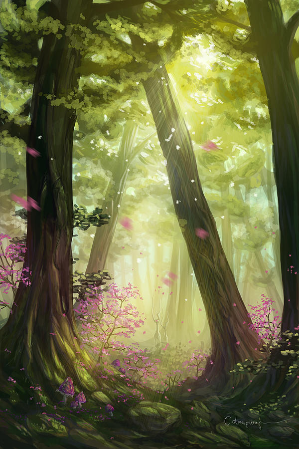 Green Forest by Cassiopeia Art