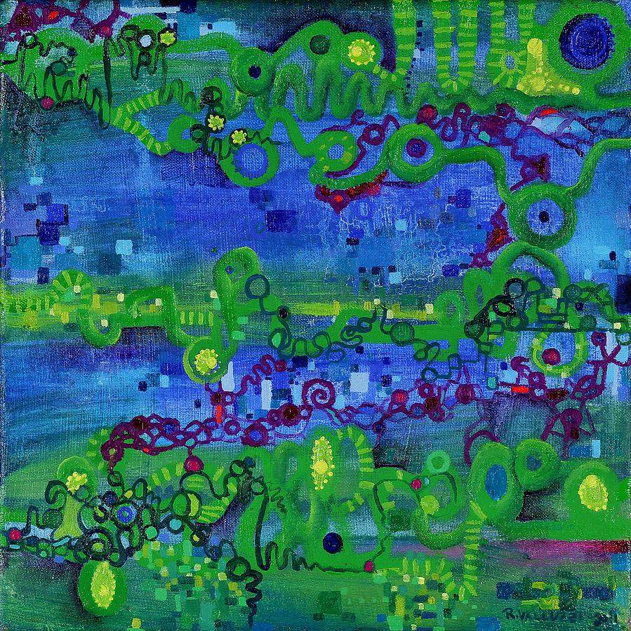 Path Integral Painting - Green Functions by Regina Valluzzi
