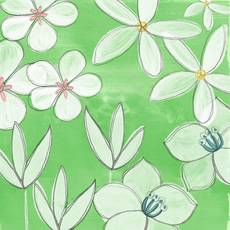 Green Garden Painting