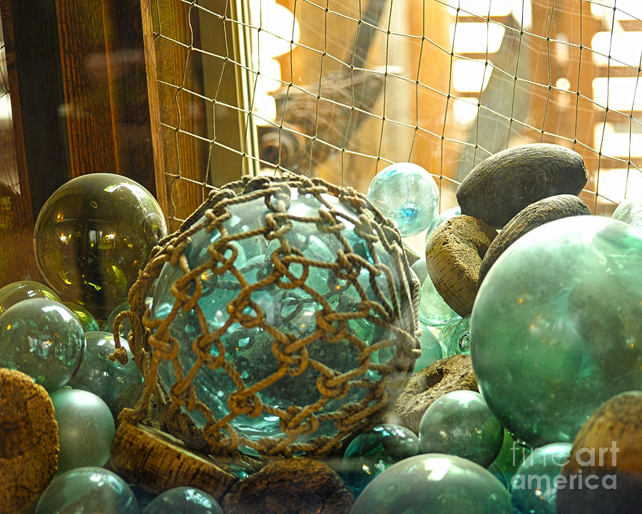 Green Glass Japanese Glass Floats Photograph by Artist and Photographer Laura Wrede