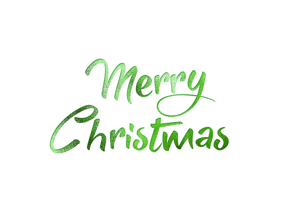 Merry Christmas Writing.Green Glitter Isolated Hand Writing Word Merry Christmas By Chan Hoi Tow