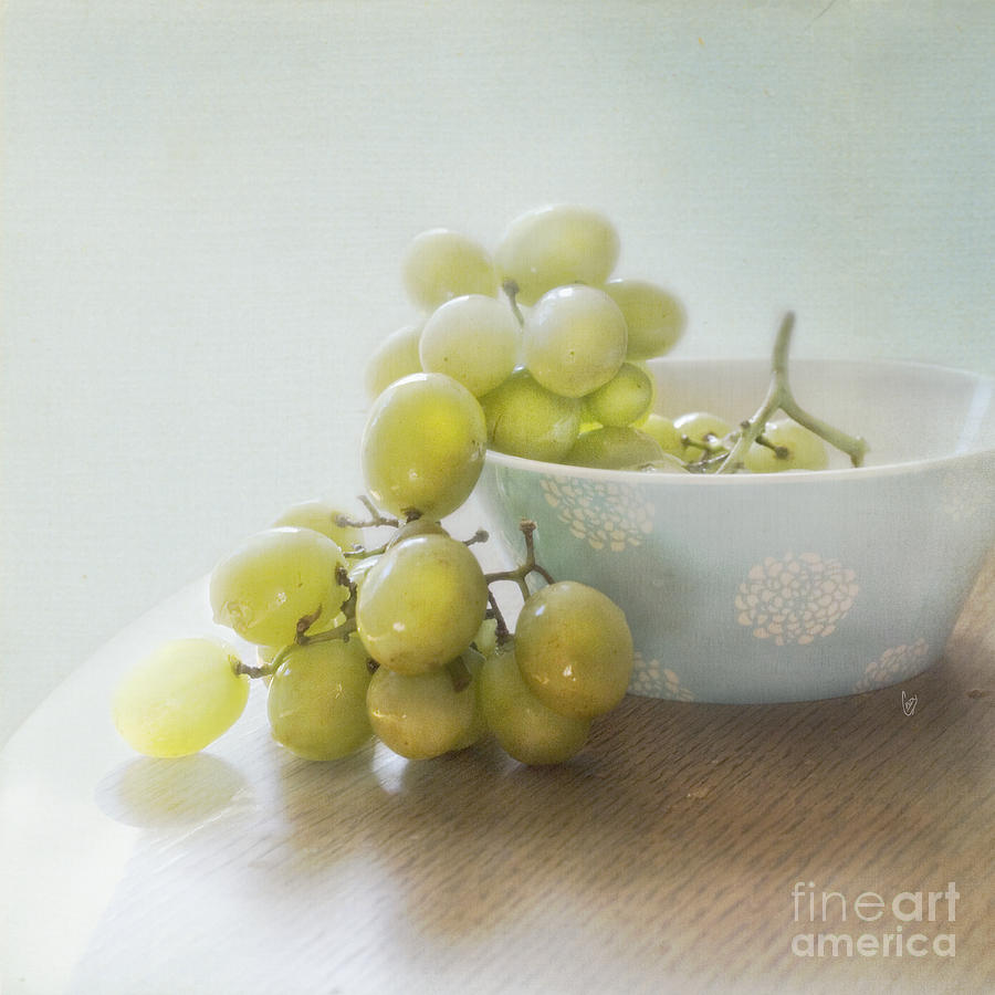 Green Photograph - Green Grapes by Cindy Garber Iverson