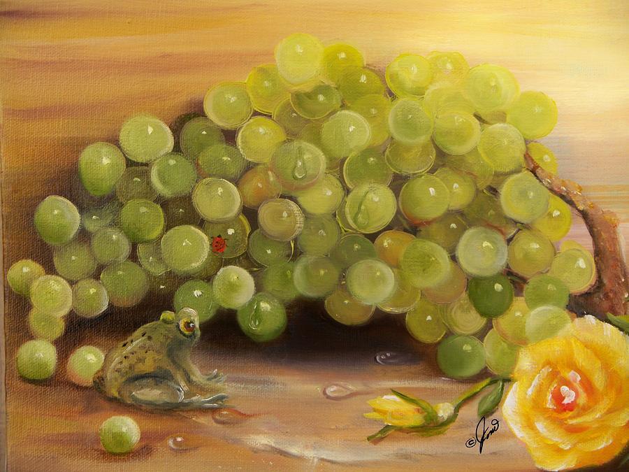 Green Grapes Green Frog by Joni McPherson